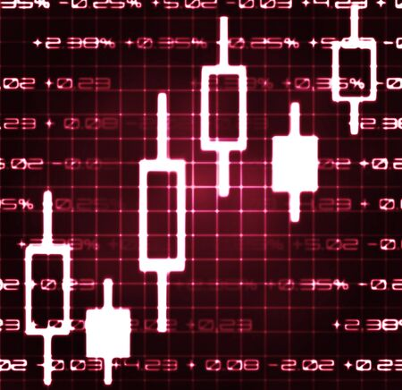 checkout line: stock market exchange japanese candles abstract illustration