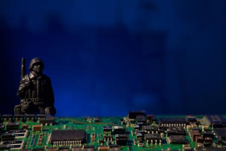 cyber terrorism concept computer bomb Stock Photo