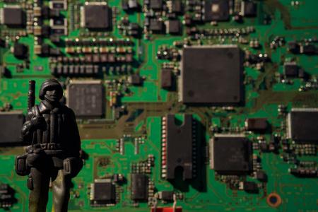 cyber terrorism: cyber terrorism concept computer bomb Stock Photo