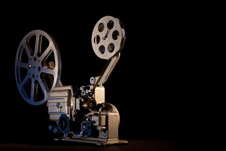 filmprojector op zwarte achtergrond