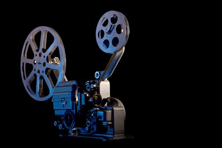 movie projector on black background Reklamní fotografie