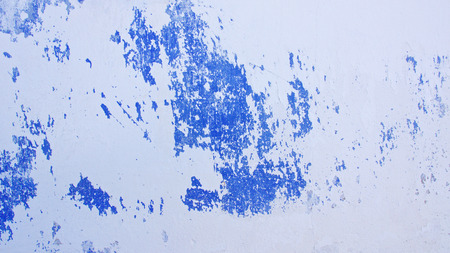 white and blue messy wall background texture