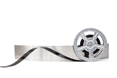 movie film reel on white background Stockfoto