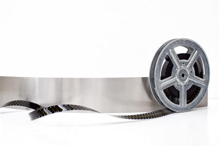 movie film reel on white background Stock Photo