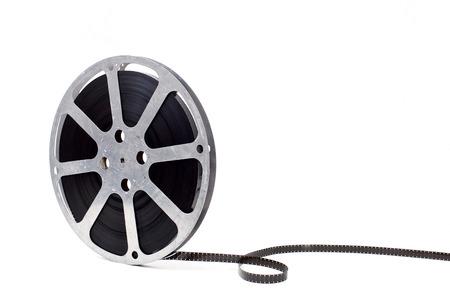 film reel on white background Stock Photo