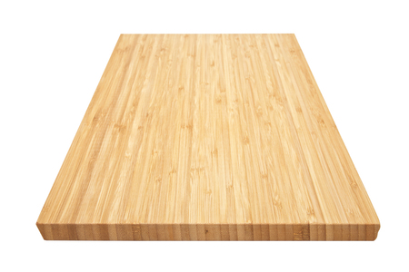 a wooden cutting board on a white background Reklamní fotografie