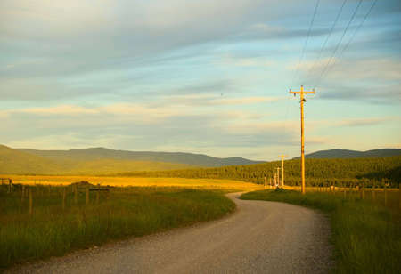 A dirt road in a rural area. photo
