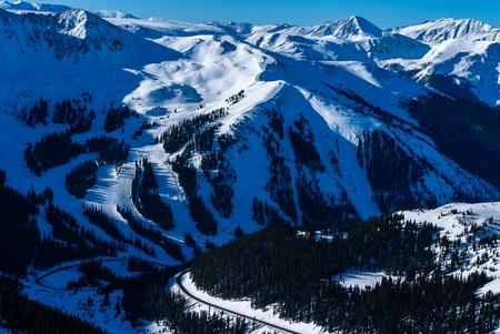 loveland pass: Arapahoe Basin Ski Resort Stock Photo