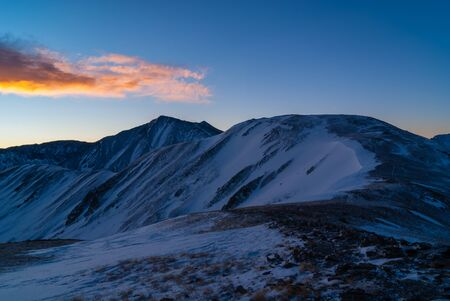 denver at sunrise: Rocky Mountain Sunrise Stock Photo