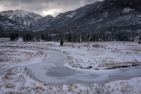 denver at sunrise: Along the East Inlet Trail, in Rocky Mountain National Park.  Grand Lake, Colorado.