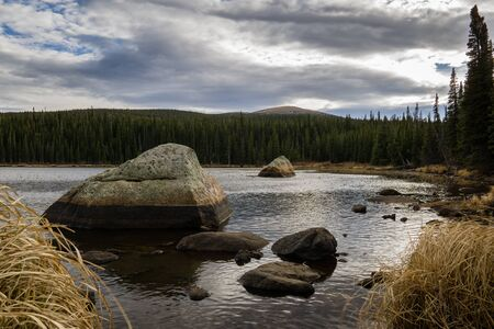 recreation area: Brainard Lake Recreation Area.  Ward, Colorado. Stock Photo
