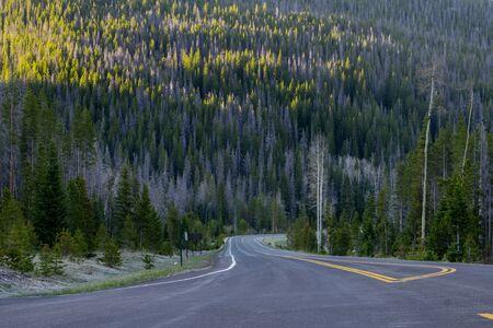 denver at sunrise: Near the Grand Lake Entrance of Rocky Mountain National Park.