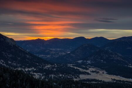 denver at sunrise: From Many Parks Curve, in Rocky Mountain National Park