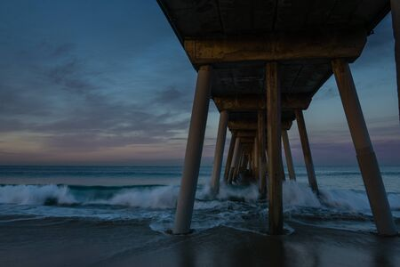 hermosa beach: Sunrise in Hermosa Beach, California Stock Photo