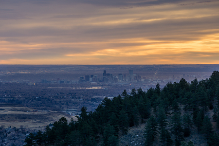 From Table Mountain, in Golden, Colorado.