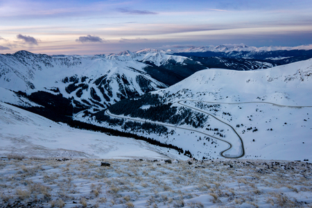 Summit County, Colorado is home to several ski resorts.  This view is from Grizzly Peak, above Loveland Pass.