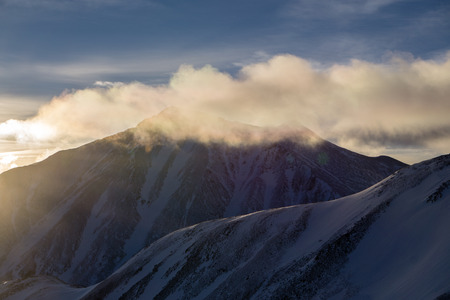 One of Colorados fourteeners, Torreys Peak, seen from nearby Mount Sniktau Stock Photo