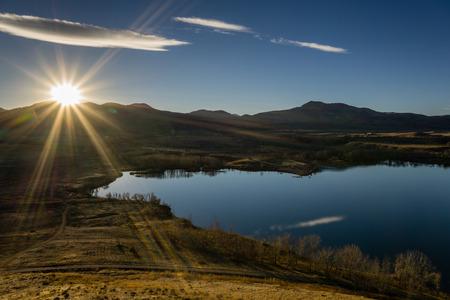 morrison: Near Morrison, Colorado.  Bear Creek Lake Park has many trails for hiking and biking. Stock Photo