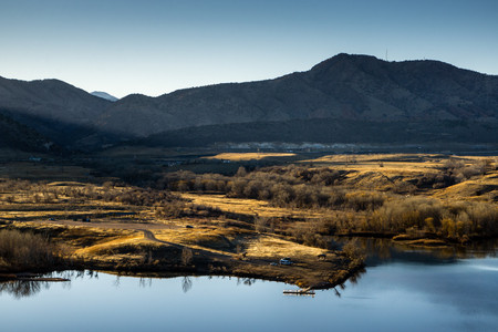 morrison: Morrison, Colorado.  Bear Creek Lake, and the river that feeds it from the nearby mountains.