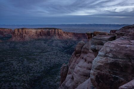 From the rim of Colorado National Monument, near Fruita, Colorado. Reklamní fotografie