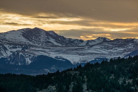 mount evans: A view a Mount Evans, from Evergreen, Colorado.