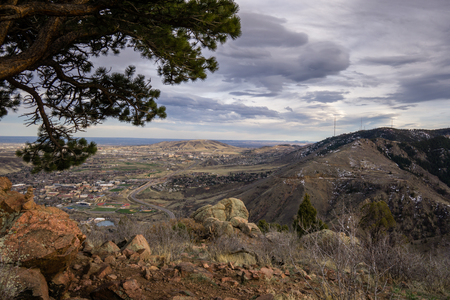 morrison: A view of Lookout Mountain, Green Mountain, and the Colorado School of Mines.