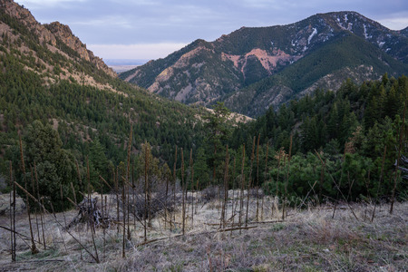From the Eldorado Canyon Trail late in the day.