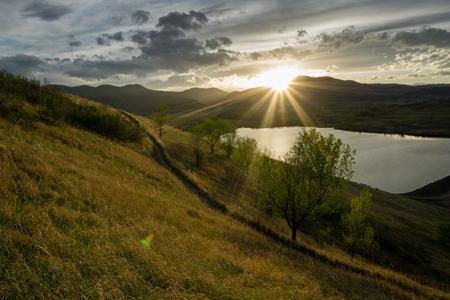 morrison: Sunset over Bear Creek Lake, in Morrison, Colorado.
