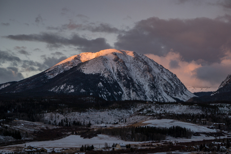 Buffalo Mountain in the early winter.   Silverthorne, Colorado.