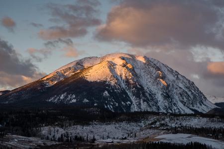 keystone: Sunrise on Colorados Gore Range.