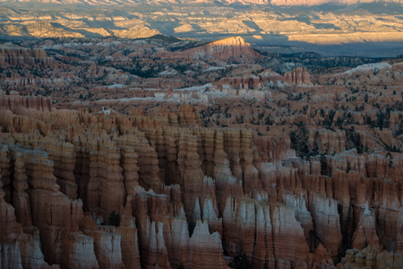 The last sunlight of the day in Bryce Canyon National Park, Utah