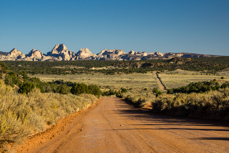 The Burr Trail Road, in Capitol Reef National Park, Utah. Stock Photo