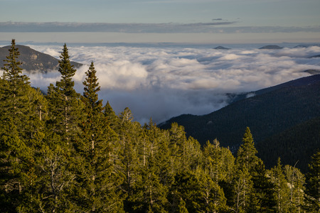 From high in the Arapahoe National Forest, near Evergreen, Colorado. Stock Photo