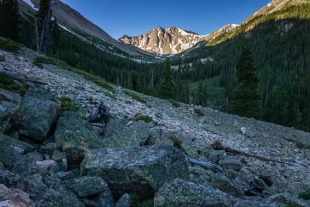 La Plata Peak is one of Colorados Fourteeners, near Independence Pass.