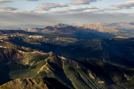 An aerial view from the summit of Grays Peak, Colorado.