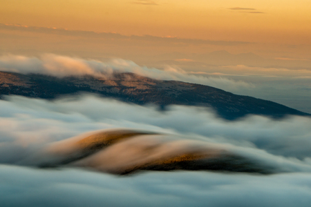 From above the fog on Mount Evans, Idaho Springs, Colorado.