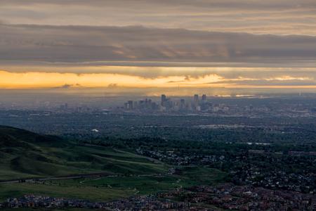 Sunrise over Denver, from nearby Mount Morrison.