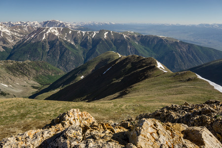 Looking to the North, you can see Mount Elbert as well as the Arkansas River Valley below.