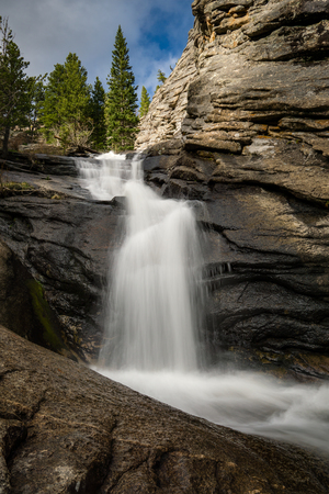 Cascades above Bridal Veil Falls.  Near Estes Park, Colorado.