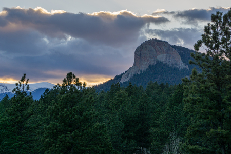 Sunset in Colorados newest State Park.  Pine, Colorado.