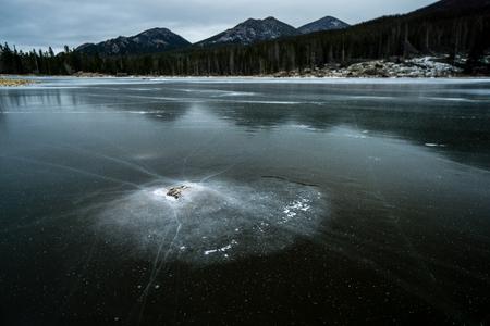 Sprague Lake, along Bear Lake Road in Rocky Mountain National Park.  Estes Park, Colorado.