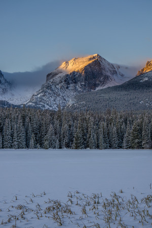 Sunrise at Bierstadt Lake.  Estes Park, Colorado.