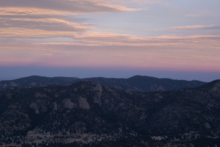 From the summit of Lily  Mountain, Estes Park, Colorado.