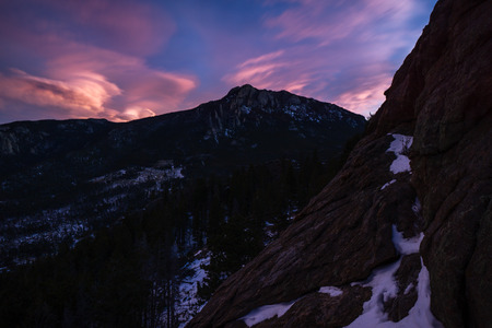 From Lily Mountain, a popular dog friendly hike in Estes Park, Colorado.