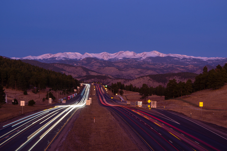 I-70 at Genessee Park, in the Colorado Mountains.