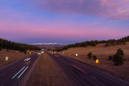 i-70 at Genessee Park, in the Colorado Mountains. Stok Fotoğraf