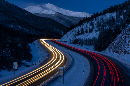 Near Georgetown, Colorado.  Near the Eisenhower Tunnel. Stock Photo