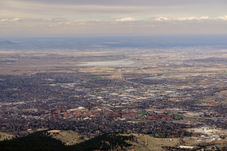 A view of Boulder from the top of Bear Peak.
