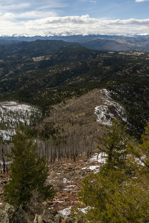 View from the summit of Bear Peak, looking west towards the continental divide. Stockfoto