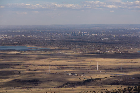 From the summit of Bear Peak, a view to the south, towards Denver.